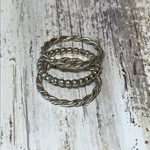 Sterling Silver Stacking Ring Bundle Set Size 5